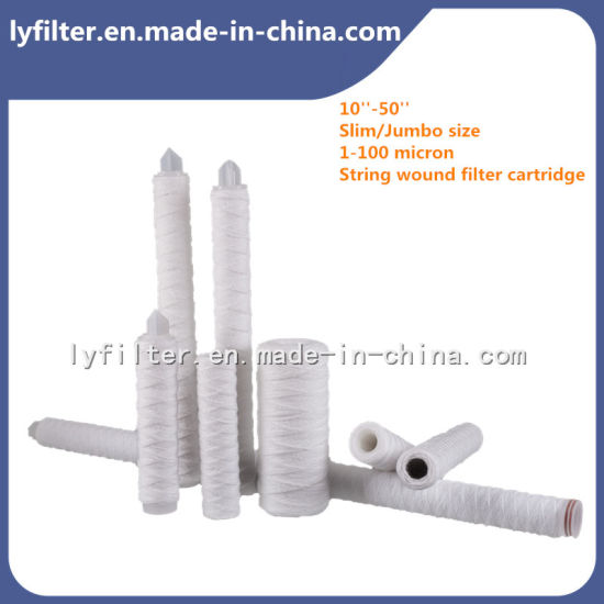 Chemical Industry PP Polypropylene Sediment String Wound Filter Cartridge