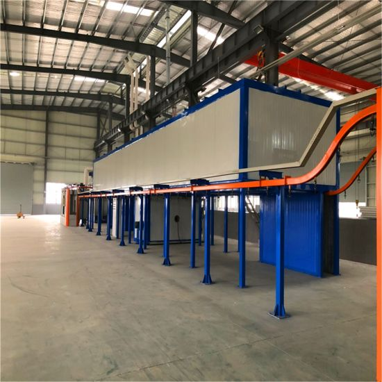 Automatic Compact Powder Coating Production Line for Small Size Factory