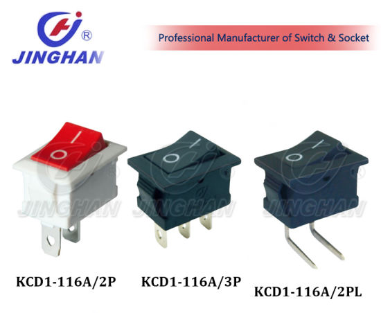Kcd1-116A Sp St 2p Mini Rocker Switch Waterproof 10A