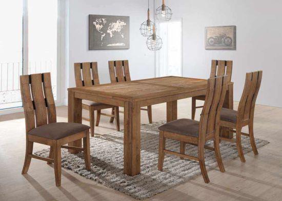 Solid Wood Dining Set (Targa 1+6 Dining Set)