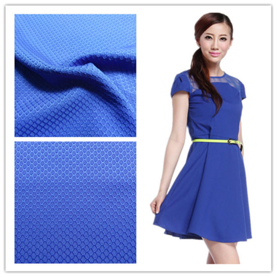 Elastic Polyester Jacquard Fabrics, Woven Fabric and Textile for Garment