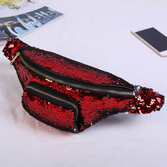 Women Sequin Fanny Pack Fashion Female Waist Bag 2019 New Chest Pouch  Shoulder Bag Glitter Bum Belts Bags Waist Packs 6fccf4e2d03f