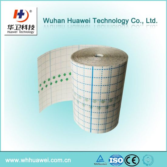 Medical Adhesive Wound Dressing, I. V Dressing, PU Film with Cutting Linier Raw Material for Wound Dessing
