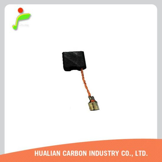 Carbon Brushes for DC Motors/Generator Carbon Brush/Wholesale Graphite Oil Copper Water Pump Carbon Brushes with Tin Terminal pictures & photos
