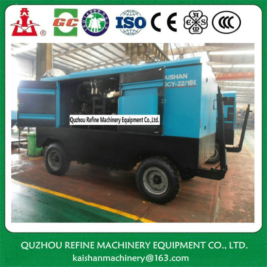 Kaishan LGCY-22/18K Diesel Portable Agricultural Screw Air Compressor pictures & photos