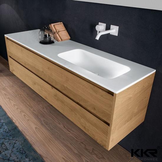 China Modern Bathroom Resin Stone Sink Cabinet Wash Basin with Cupc ...
