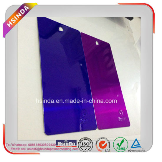 china customized candy dark purple powder paint transparent powder