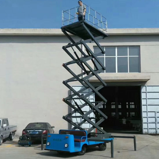 16m Lifting Height Full Electric Mobile Platform Scissor Lift for Aerial Working