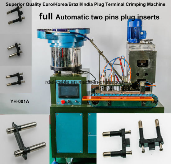 Po-673 Europe VDE 16A 2.5A Plug Insert Crimping Machine pictures & photos