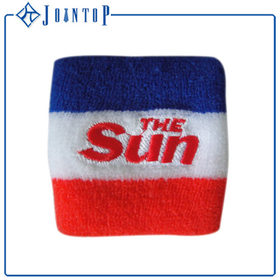 Promotional Sports Athletic Sweatbands with Customed Embroidery Logo