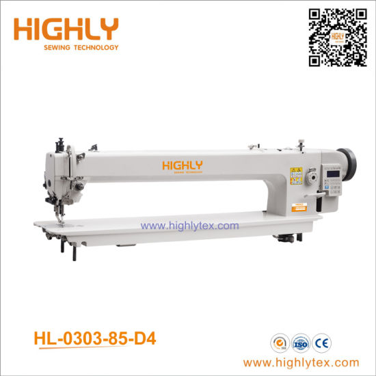 85cm Long Arm Computerized Top and Bottom Feed Heavy Duty Lockstitch Sewing Machine
