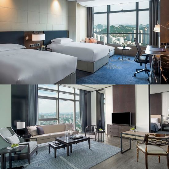 China 5 Star Hilton Luxury Hotel Bedroom Furniture Double Hotel
