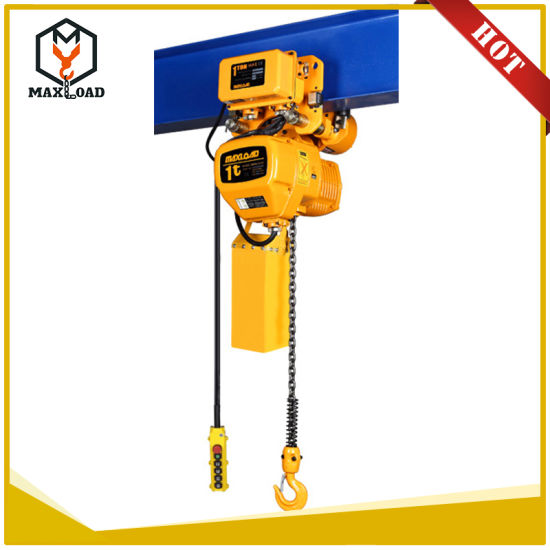 Motor Lifting Electric Chain Crane 1 Ton Hoist with Electric Monorail  Trolley