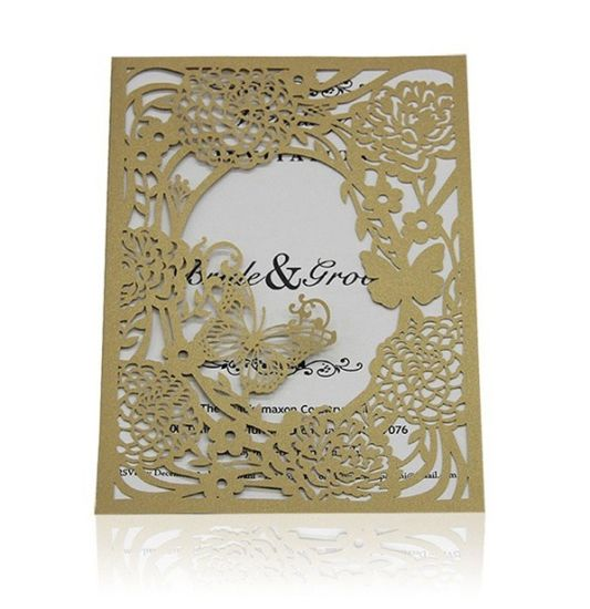 50 Pieces Laser Cut Lace Pattern Cards For Dinner Invitation