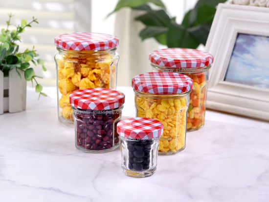 Flint Glass Jelly Jars with Lids in Different Sizes