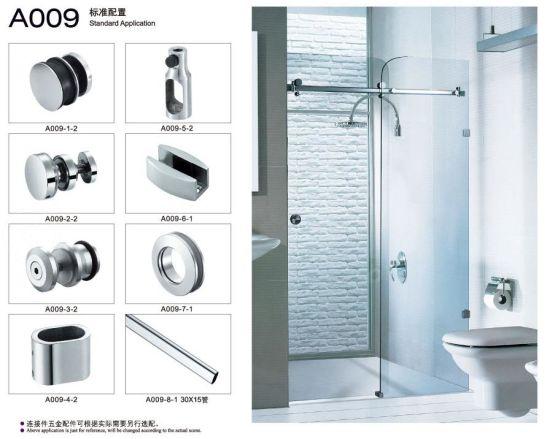 China Heavy Duty Shower Door Hardware Glass Shower Door Hinge Kits