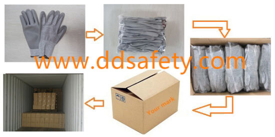 Ddsafety 2017 Cut Resistant Gloves Grey Color pictures & photos