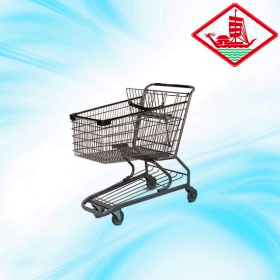 180L Powder Coated Shopping Hand Trolley
