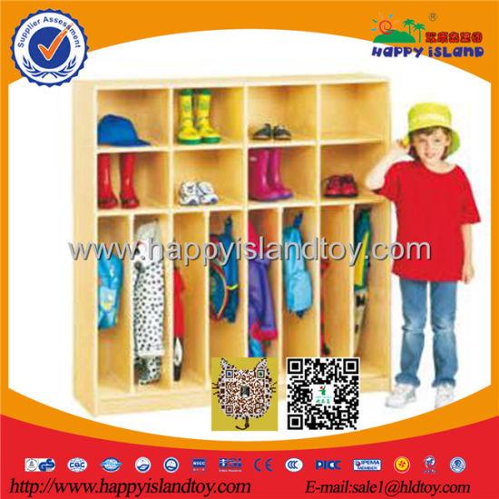 Wooden Clothing Shoe Cabinet Kids Kindergarten Furniture