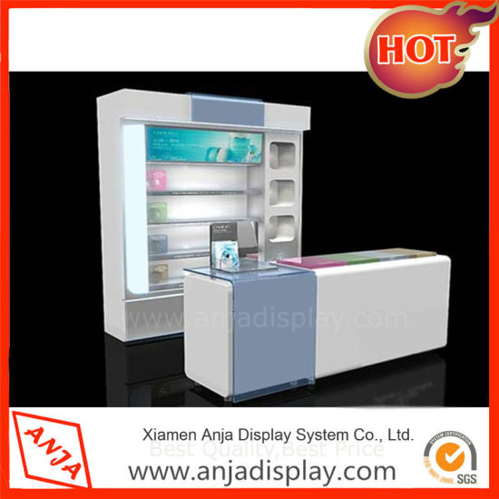 Retail POS Wooden Cosmetics Display System for Shop