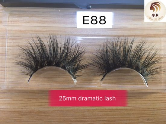 Popular Hot Sale 25mm Dramatic Soft Handmade 5D Mink Eyelash Extension with Packing