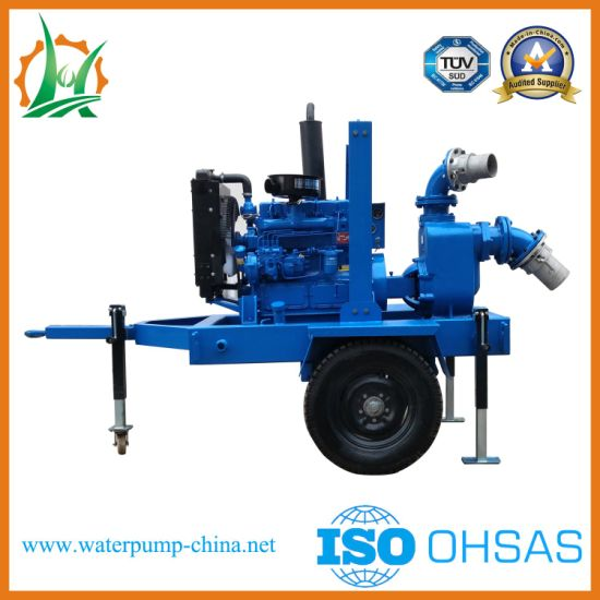 Quick Move Diesel Engine Driven Sewage Pump for Waterlog pictures & photos