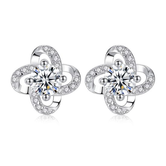 Small Round 925 Sterling Silver Stud Earrings Jewelry pictures & photos