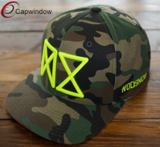 0518b9175a271 China Camouflage Snapback Cap with Neon Embroidery (01610) - China ...