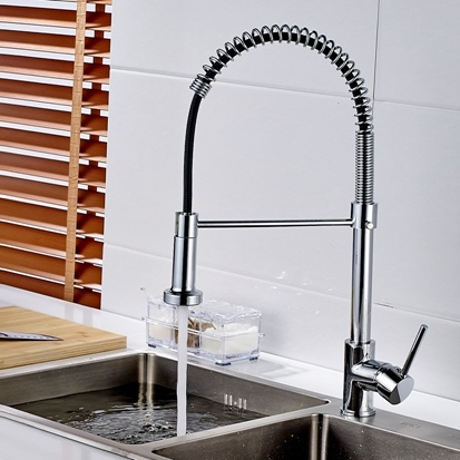 China Flg Spring Style Kitchen Sink Mixer Faucet Pull Chrome ...