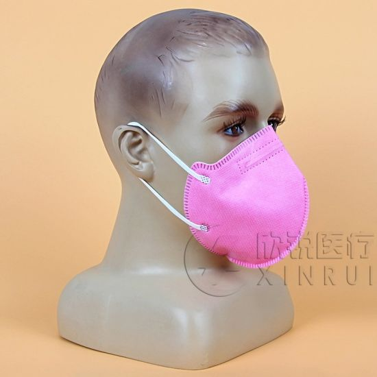 Disposable Industrial Protective KN95 Face Mask Without Valve Pink