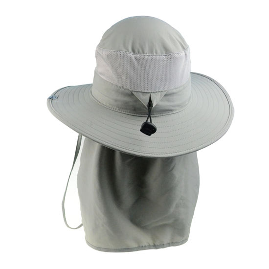 f8dee227 Leisure Cap Fashion Polyester Wide Brim Sun Protection Hats with Ear Flap