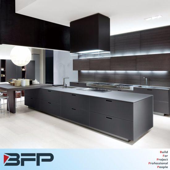 Luxury Big Kitchen Design 2 PAC Matt Finish Base Cabinet Wood Hanging Wall  Cabinet