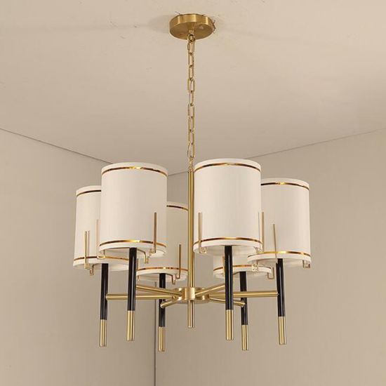 Modern American Country Living Room Nordic Bedroom Dining Copper Chandelier