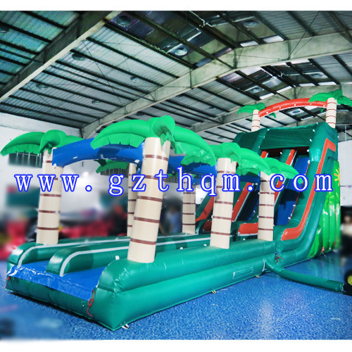 Backyard Kids Residential Inflatable Water Slide/Huge Bouncy Water Slide for Custom pictures & photos