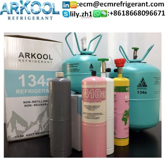 99.9% Can and Cylinder Refrigerant Gas R134A Refrigerant Auto Factory for R-134-a R1234yf pictures & photos