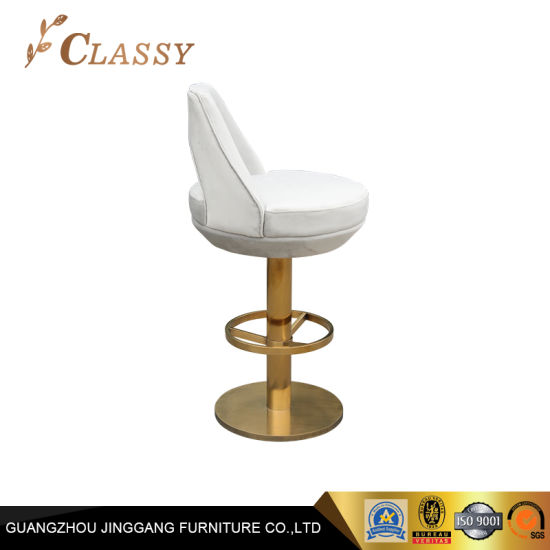 Pleasant China Rotary Flannel Counter Stools Top Golden Metal Uwap Interior Chair Design Uwaporg