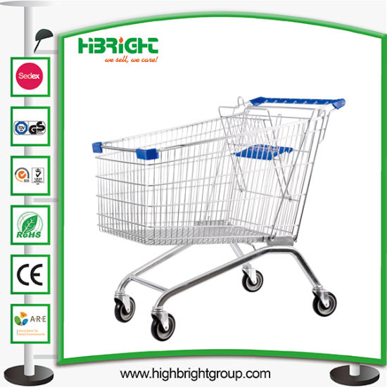 American Style Supermarket Shopping Trolley with Good Wheels pictures & photos