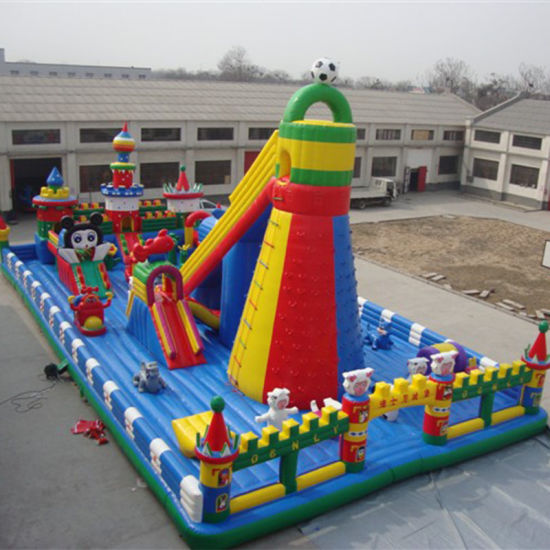 Colorful Custom Inflatable Castle (FC-050)