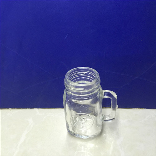 2oz Empty Mini Glass Mason Honey Jar with Handle pictures & photos