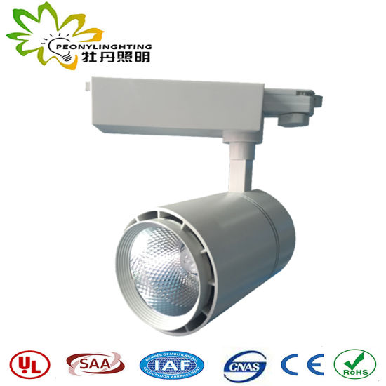 40W Track Lights with Track Adapter 3-5 Years Warranty and Small Angle LED Track Spot Lights