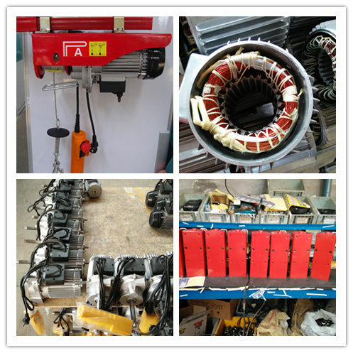 200-1200 Kg PA Wire Rope Hoist Lifting Mini Hoist pictures & photos