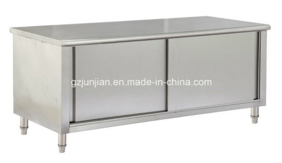 China Cheering Stainless Steel Work Top Table Cabinet With Storage - Stainless steel table with storage