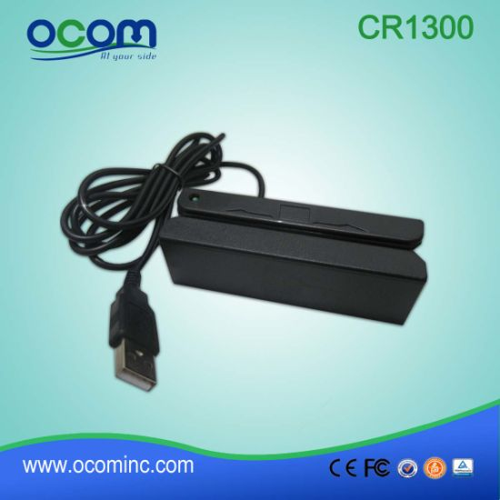 Cr1300 3 Tracks USB Magnetic Mobile Portable Msr Card Reader pictures & photos