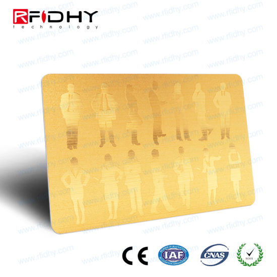 Hot Stamp Gold Full Color Printing RFID Dual Frequency Card