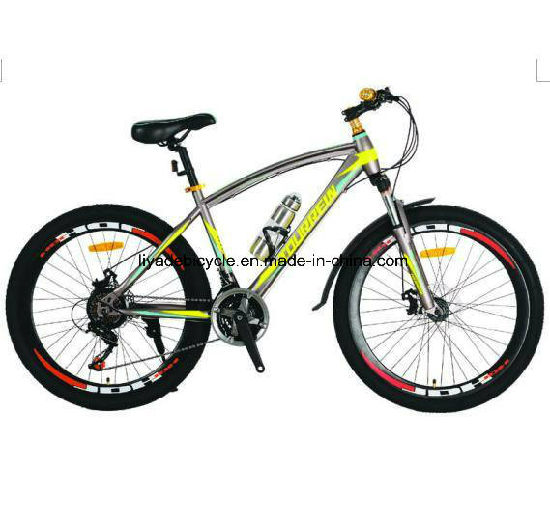 "26""Steel Frame 21 Speed Mountain Bicycle for Men pictures & photos"
