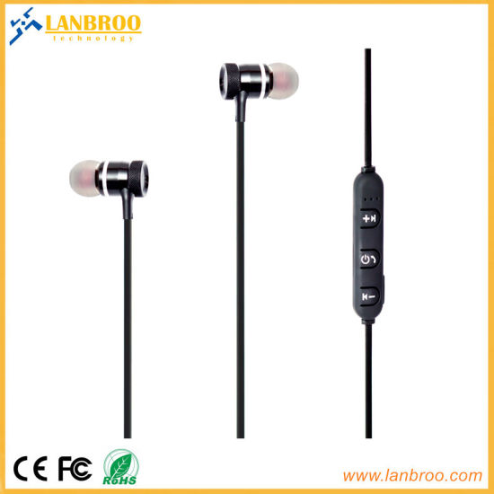 China Magnetic Wireless Bluetooth Headsets Mobile Phone Handsfree Super Bass China Best Jogging Headphones And Good Wireless Earphones Price