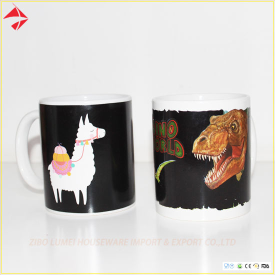 Color/Heat Changing Ceramic Coffee Mug with Custom Design for Promotion