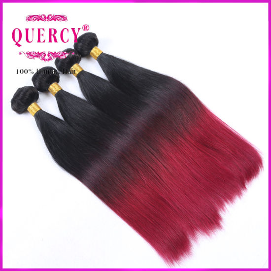8A Top Quality Virgin Straight Brazilian Malaysian Peruvian Hair Wholesale Hair Weave Two Tone Color Ombre Hair pictures & photos