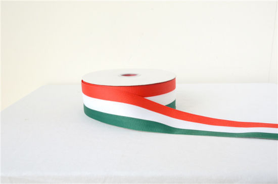 Striped Satin Ribbon Woven for Clothing pictures & photos