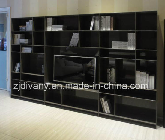 China Italian Modern Style Living Room Wooden Display Cabinet Sm
